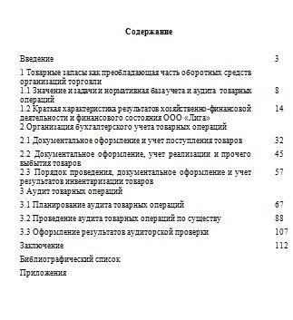 Учет и аудит товарных операций в коммерческой организации на материалах ООО «Лига»